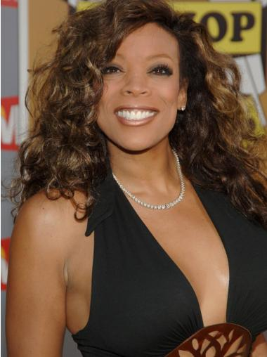 "Wendy Williams 16"" Curly Shoulder Length Remy Human Hair"