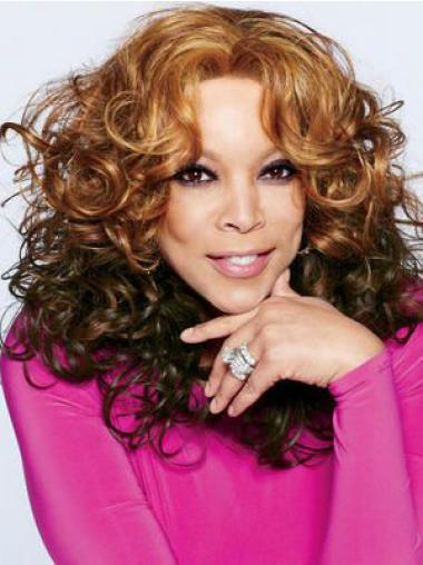 "Wendy Williams 18"" Curly Shoulder Length Remy Human Hair"
