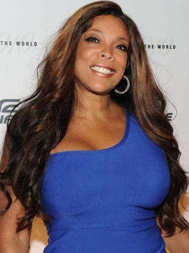 """Full Lace Wendy Williams 24"""" Wavy Long Remy Human Hair"""