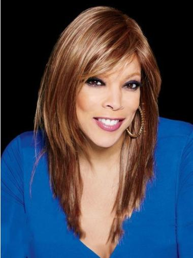 Long Straight Remy Hair With Bangs Attractive Wendy Williams Wigs