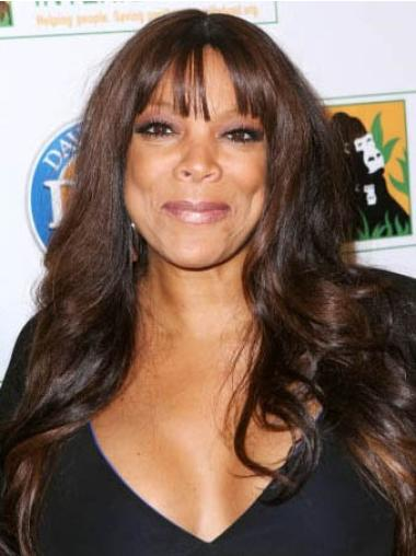 22 Inch Brown Lace Front Wigs With Bangs Wendy Williams