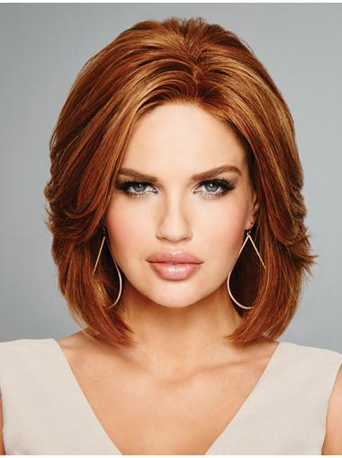 "Auburn 12"" 100% Hand-tied Remy Human Hair Bob Style Wigs"