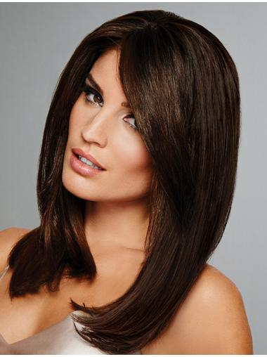 """100% Hand-tied Straight 15"""" Shoulder Length Human Wigs"""