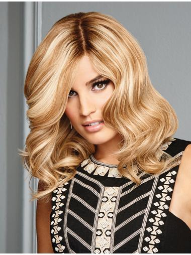 """Shoulder Length Wavy 13"""" 100% Hand-tied Human Hair Wigs For Women"""
