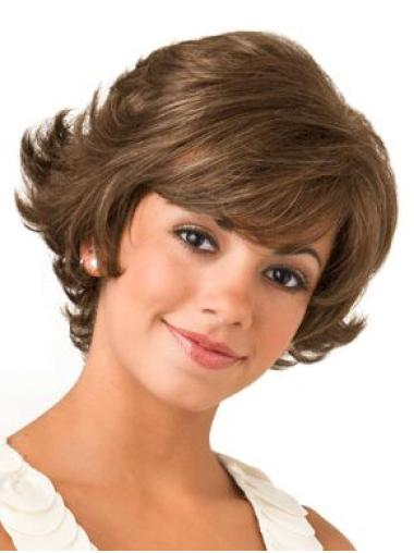 "Lace Front Bob Wavy 8"" Brown Wigs For Women"