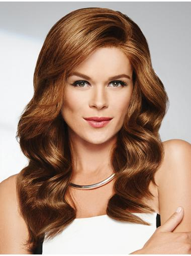 "Monofilament Long Wavy 18"" Wigs Human Hair"