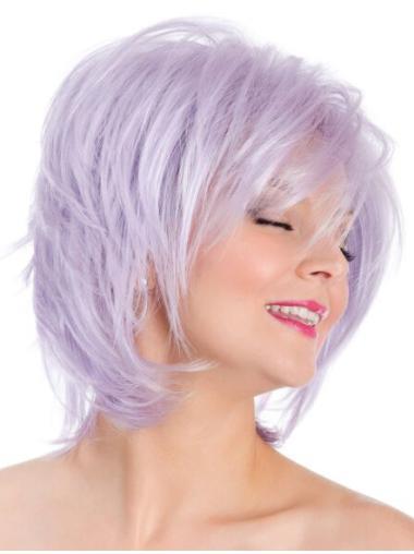 """8"""" Lilac Capless Straight Bobs Fashion Wig"""