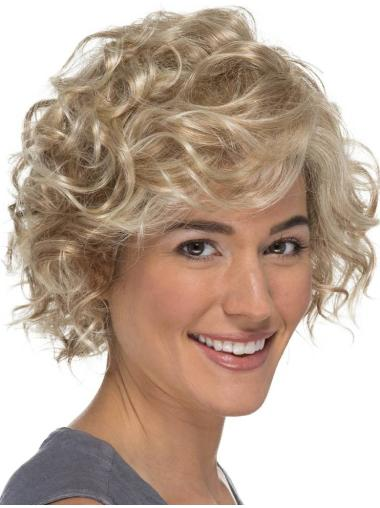"Curly 8"" Blonde Classic Lace Wig"