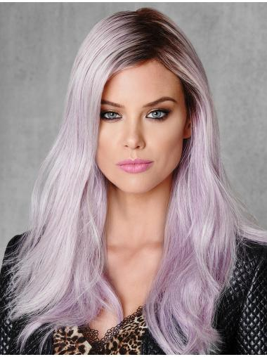 "Straight Without Bangs Ombre/2 Tone 18"" Capless Young Fashion Wigs"