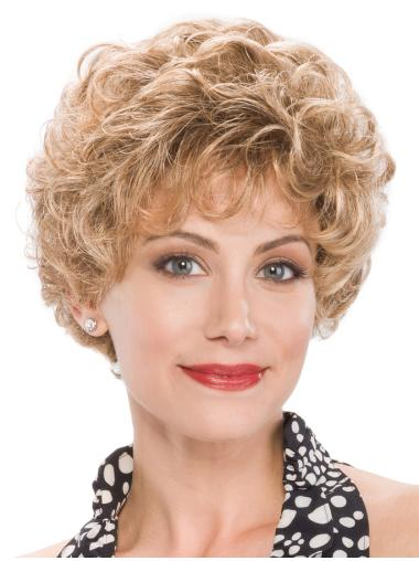 """Capless Curly 8"""" Short Classic Ladies Wig"""