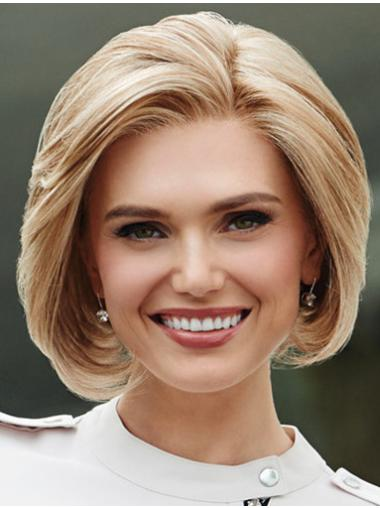 """Monofilament Blonde Wavy Bobs 10"""" Synthetic Wigs For Sale"""