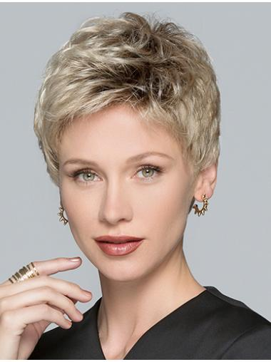 """Boycuts Straight Blonde Synthetic 3"""" Short Hair Wigs"""