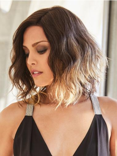 """Wavy 12"""" Monofilament Layered Real Looking Synthetic Wigs"""
