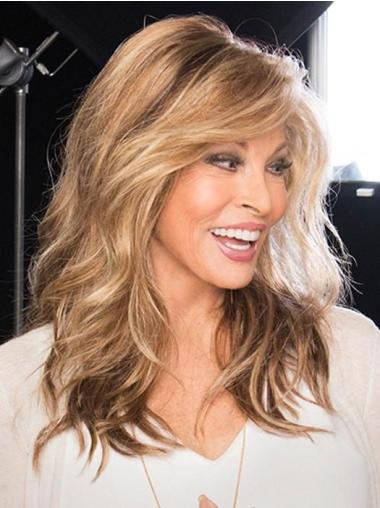 """16"""" Wavy Long Brown Best Synthetic Monofilament Wigs"""
