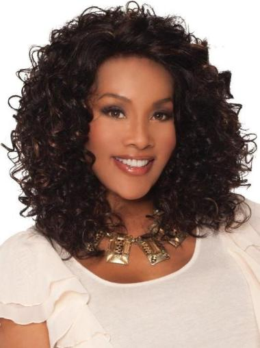 "Brown 13"" Curly Classic Lace Front Synthetic Wigs Cheap"