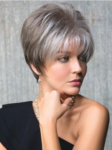 Cropped Capless Better Synthetic Wig Grey