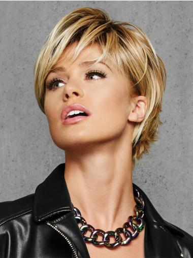 """Layered Blonde Capless 6"""" Synthetic Wigs Online"""