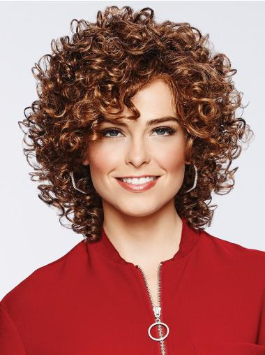 "Brown 11"" Classic Lace Front Synthetic Wigs"