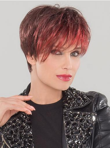 Straight Red Boycuts Most Realistic Synthetic Wigs