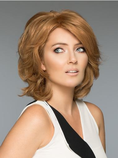 Wavy Blonde Human Hair Wigs