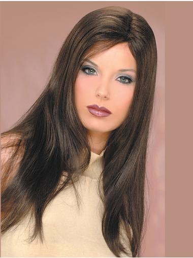 Synthetic Long Straight Brown Style Classic Wigs