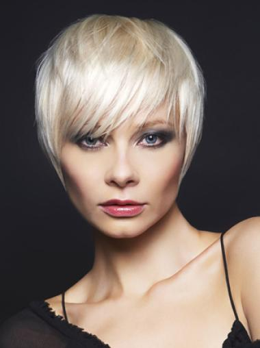 Young Fashion Great Short Hair Cut Grey Wigs