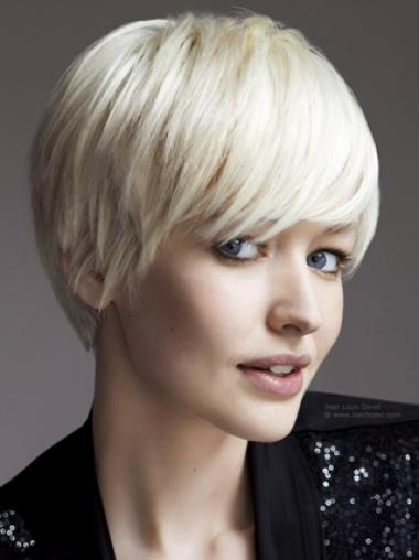 Young Fashion Bob for Silver Mono Capless Hair Wigs