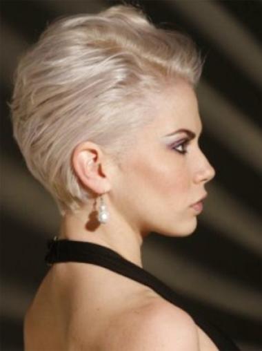 Young Fashion Platinum Blonde with Short Neckline