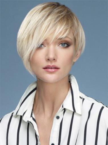 Young Fashion Wonderful Platinum Blonde Short Synthetic Wigs