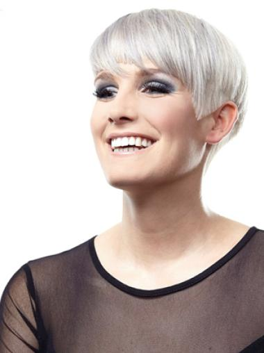 Silver And Grey Short Lace Wigs