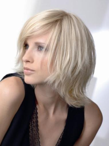 Young Fashion Great Soft Wave Platinum Blonde Bobs Full Lace Human Wigs