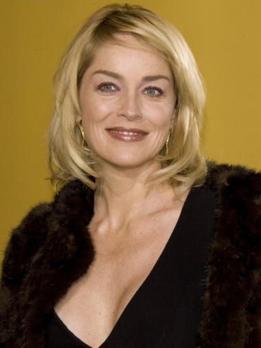 "Chin Length Straight Full Lace Platinum Blonde 12"" Mature Women Wigs"