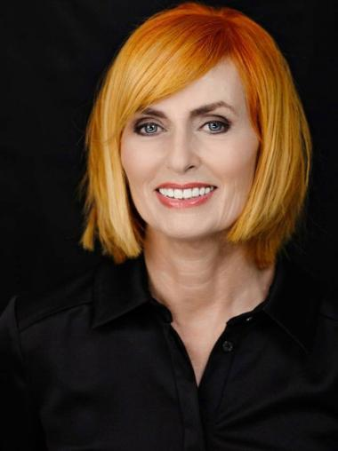 """Chin Length Straight Full Lace Copper 14"""" Lady Wigs"""