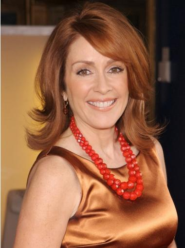 """Shoulder Length Wavy Full Lace Copper 14"""" Women Wigs"""