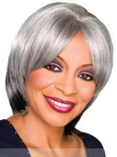 Dip Grey Lady Chin Length Wigs