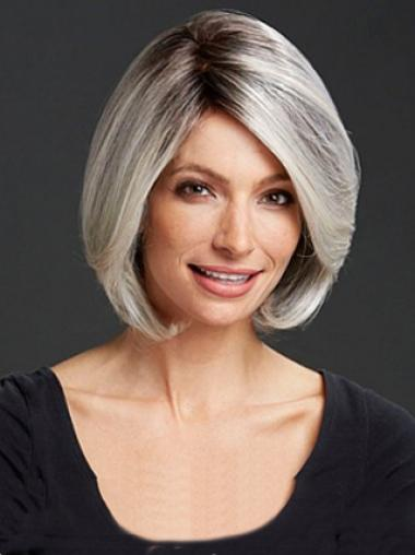 Grey Lady Without Bangs Bobs Human Wigs