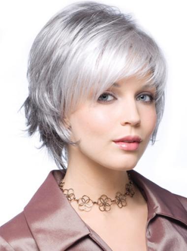 Silver Lady Short Cute Elegent Women Wigs