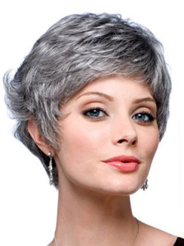 Dip Grey Lady Layered Great Synthetic Wigs