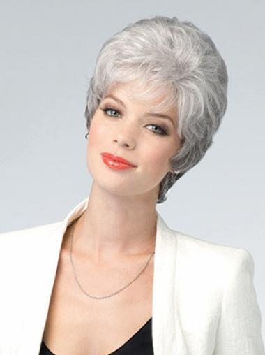 Grey Lady Comfortable Lace Front Human Wigs