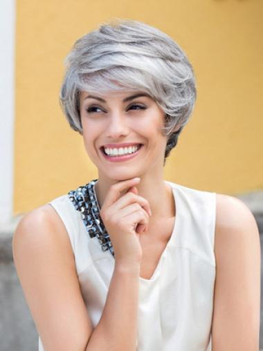 Grey Lady Short Smooth Lace Front Wigs