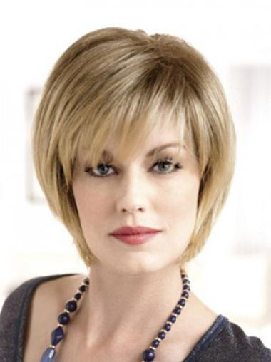 Lady Brown Short Straight Cute Lace Front Wigs