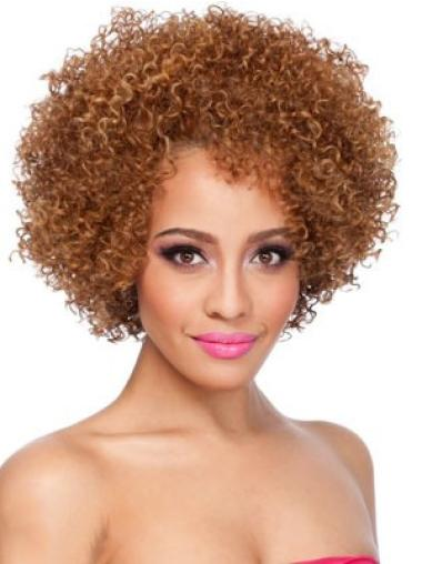 Blonde Curly Synthetic Fashion Medium Wigs