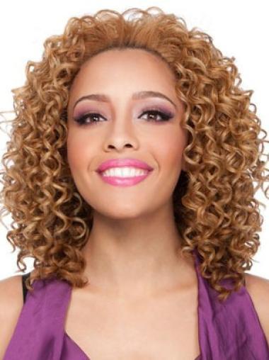 Radiant Brown Shoulder Length African American Wigs