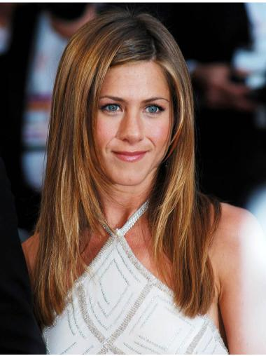 Fantastic Long Straight Auburn Without Bangs Jennifer Aniston Inspired Wigs
