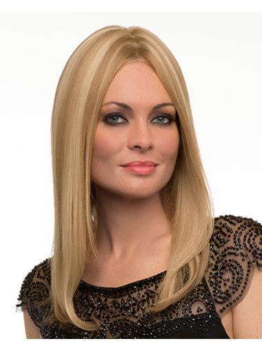 Glamorous Remy Human Hair Blonde Monofilament Long Wigs