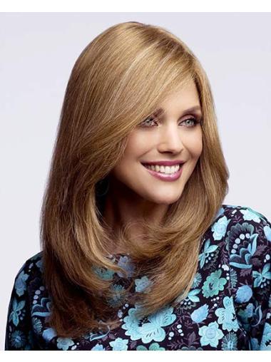 Good Blonde Straight Long Human Hair Wigs