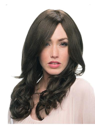 Amazing Black Curly Remy Human Hair Long Wigs