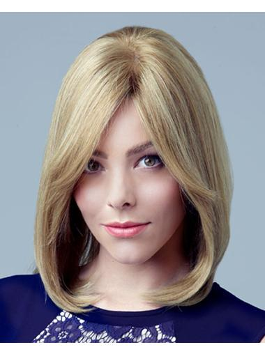 Designed Blonde Straight Shoulder Length Celebrity Wigs
