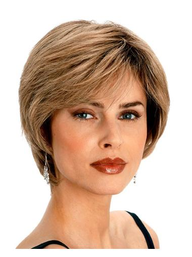 Blonde Straight Remy Human Hair Great Short Wigs