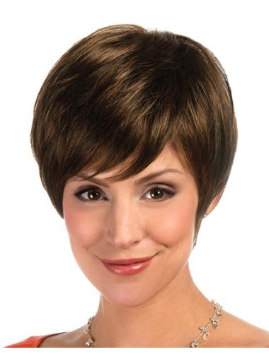 Lace Front Layered Straight Short Wigs